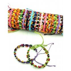 Leather bracelet - Wooden Ball