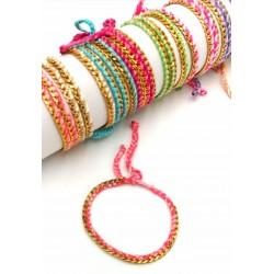 Thread and Chain Bracelet