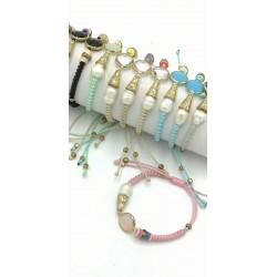 Thread Bracelet - Pearl Stone