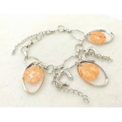 Heart bracelet - Orange