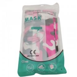 Maschera chirurgica Pink Cammo