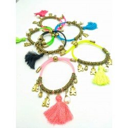 Rubber bracelet with gold...