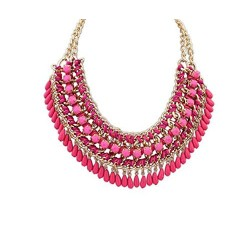 Ethnic Pink necklace with...