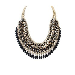 Ethnic Black necklace with...