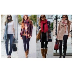 Bufandas PASHMINAS WINTER MIX