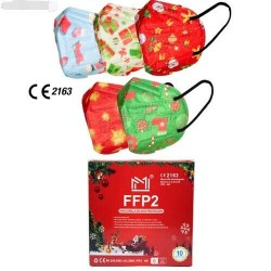 Maschera FFP2 NR Christmas