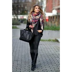 Blanket scarf Tartan XXL -...