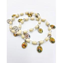 Rosary wood bracelet