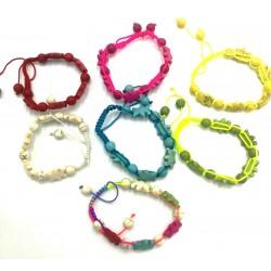 Wire bracelets with glass...