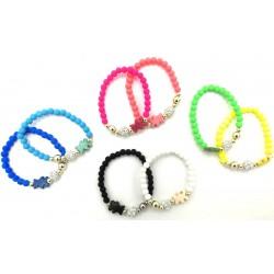Teddy bracelets with glass...
