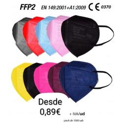 Maschera FFP2 colori adulto