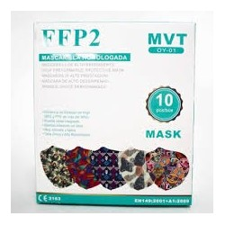 FFP2 Mask Patterned MIX