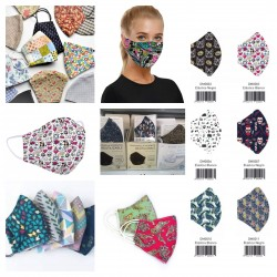 Printed fabric masks