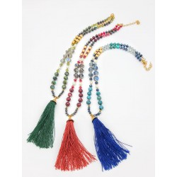 Swarky Crystal Ethnic Necklace