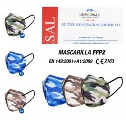 Mask FFP2 camouflage