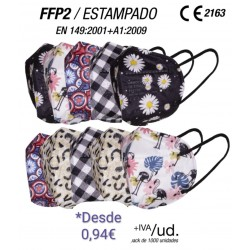 FFP2 Mask Patterned