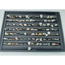 Steel and rhodium rings - Pack