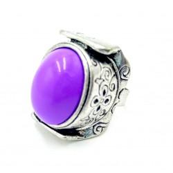 Violet rhodium ring