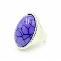 Rhodium ring Violet kra