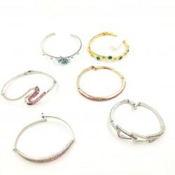 CZ Steel Bangle Bracelet
