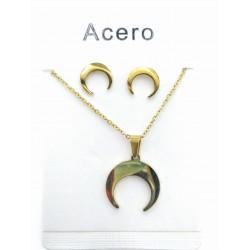 Conjunto de Acero Búfalo gold