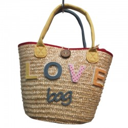 Raffia Love Bag
