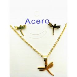 dragon-fly gold Steel set