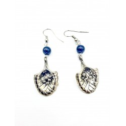 Rhodium flower COOL earrings