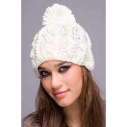 Wool hats with pom pom