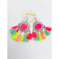 Earrings ethnic summer tassels