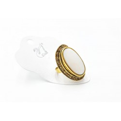 GOLFY WHITE RING