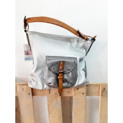 Gray space bag