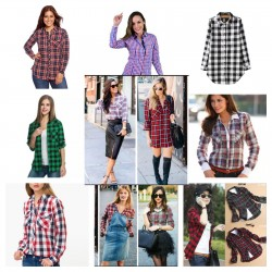 Women's plaid shirts -...