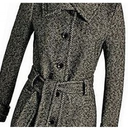 Herringbone coat for women...