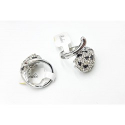 Fashion design rhodium ring