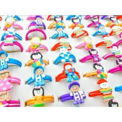 Fimo Toys Rings - Pack