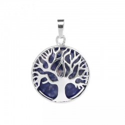 Natural stone pendant tree...