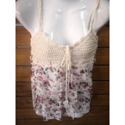 Boho flower blouse