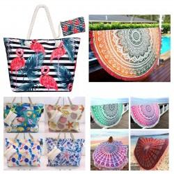 Bolsos y pareos de playa...