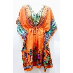 Kaftan vestido largo orange