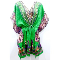 Kaftan Indian long dress green