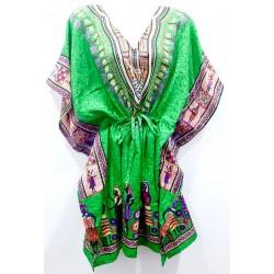 Kaftan vestido largo  green