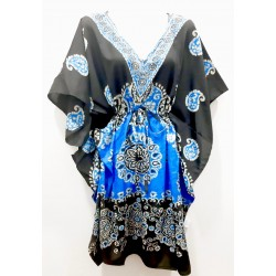 Kaftan vestido largo blue eye