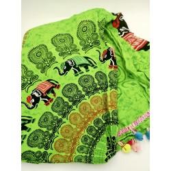 Pareo towel Mandala green...