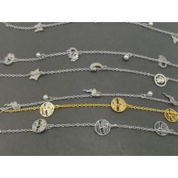 Steel bracelets with charm