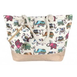 Elephant Colorful beach bag