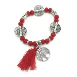 Ethnic bracelet with fringes